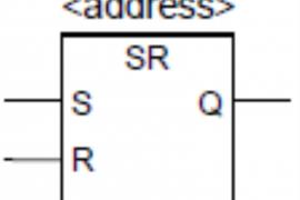 plc的SR复位优先型SR双稳态触发器指令