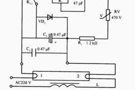 日光灯电子启辉器电路原理图解