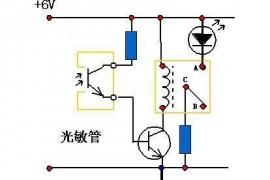 自制12v光控开关电路图